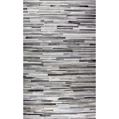 Hair on Hide Gray Area Rug Rug Size: 8 x 11