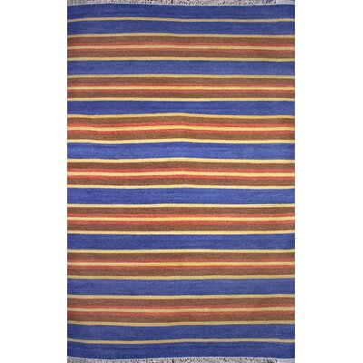 Washington Mews Blue/Brown Area Rug Rug Size: 5 x 8