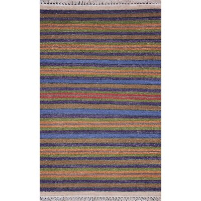 Washington Mews Gold/Blue Area Rug Rug Size: 8 x 11