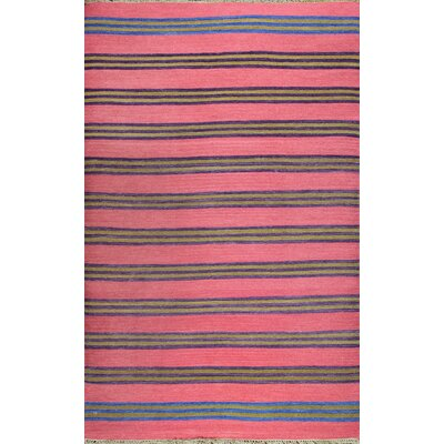 Washington Mews Pink Rug Rug Size: 8 x 11