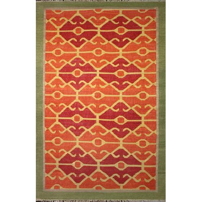 Yother Rust Area Rug Rug Size: 5 x 8