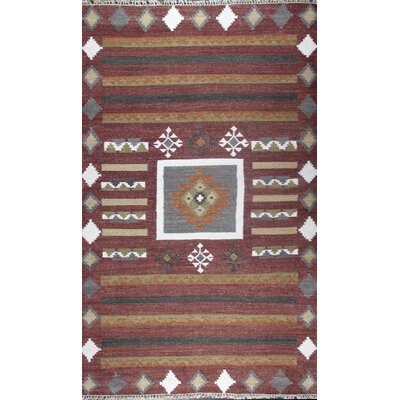 Franktown Hand-Woven Terracotta Area Rug Rug Size: 86 x 116