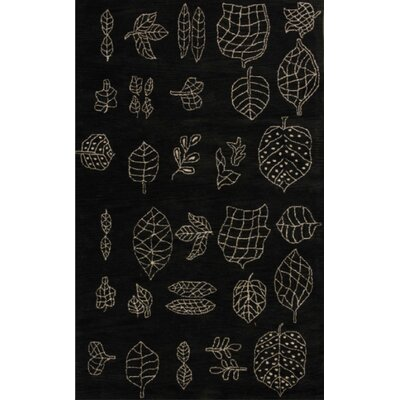 Lilly Black Rug Rug Size: Square 16