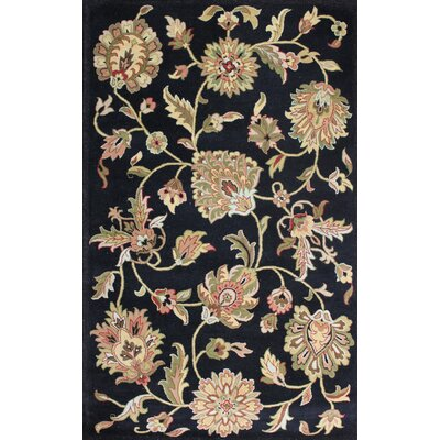 Lima Black Rug Rug Size: Rectangle 2 x 3
