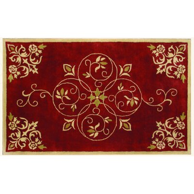 Lucas Red Rug Rug Size: Rectangle 79 x 99