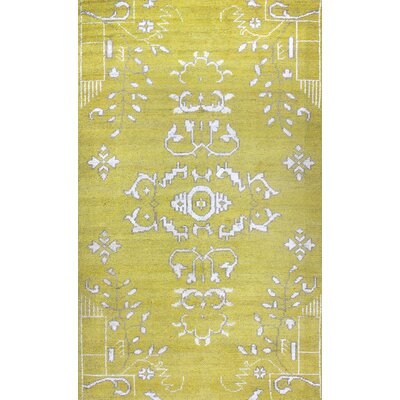 Medallion Gold Rug Rug Size: Rectangle 5 x 8