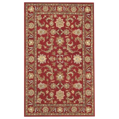 Nina Red Area Rug Rug Size: 2 x 3