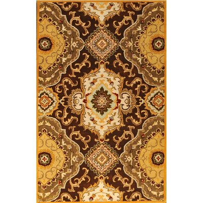 Patra Brown/Tan Area Rug Rug Size: Round 7