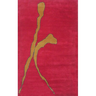 Relations Red Rug Rug Size: Rectangle 5 x 8
