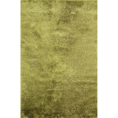 Royal Shag Green Rug Rug Size: 5 x 76