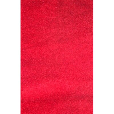 Royal Shag Red Rug Rug Size: 79 x 106