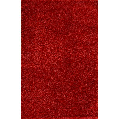 Royal Shag Red Rug Rug Size: 5 x 77