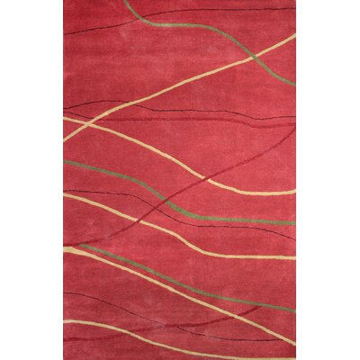 Sway Red Rug Rug Size: 2 x 3