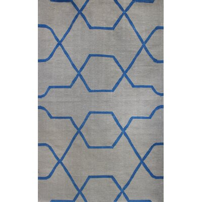 Thai 01 Cool Grey Indoor/Outdoor Area Rug Rug Size: 5 x 8