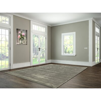 Ashlee Hand-Tufted Grey Area Rug Rug Size: 9 x 13
