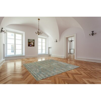 Broadway Hand-Tufted Green Area Rug Rug Size: 5 x 8