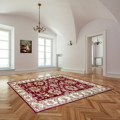 Broadway Hand-Tufted Red Area Rug Rug Size: 5 x 8