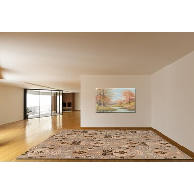 Brucelyn Beige Wool Area Rug Rug Size: Rectangle 8 x 11
