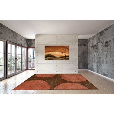 Flora Brown Area Rug Rug Size: 8' x 11'