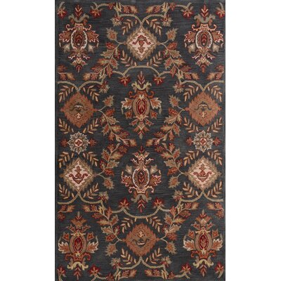 Impressa Charcoal/Brown Area Rug Rug Size: 5 x 8