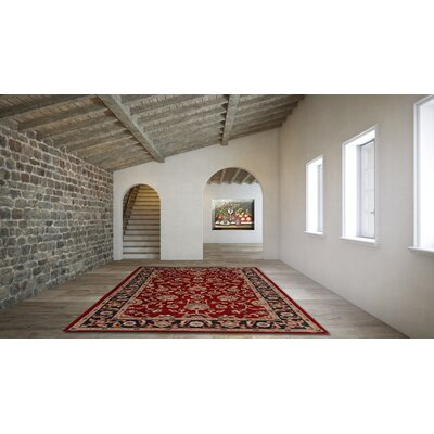 Jasmine Red Rug Rug Size: Rectangle 5 x 8