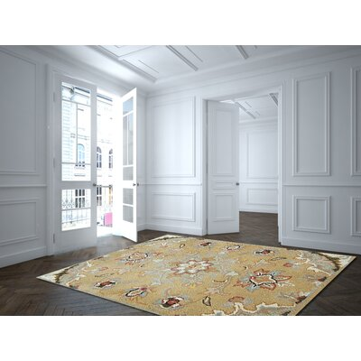 Joyce Gold Area Rug Rug Size: Rectangle 2 x 3