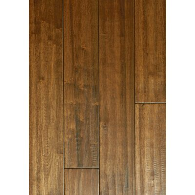 4 Solid Hevea Hardwood Flooring in Scraped Leather Bound