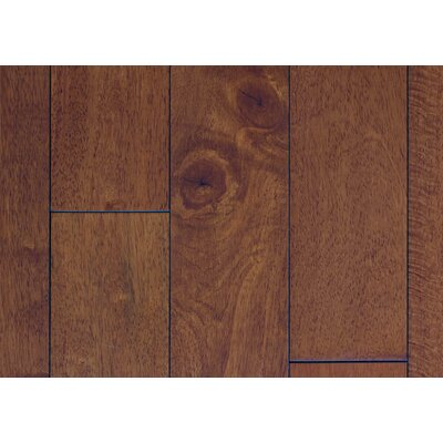 4.5 Solid Hevea Hardwood Flooring in Smooth Ginger