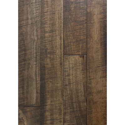 4.5 Solid Hevea Hardwood Flooring in Distressed Saddle