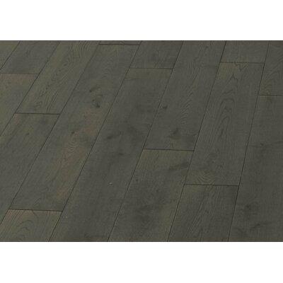 5 Solid Oak Hardwood Flooring in Brushed Smokey Gray