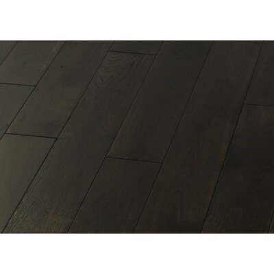 5 Solid Oak Hardwood Flooring in Brushed Ink