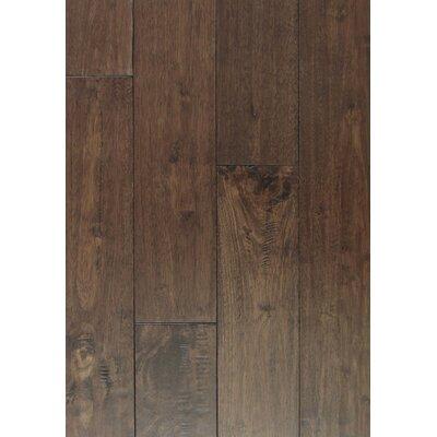 4 Solid Hevea Hardwood Flooring in Scraped Coconut Husk