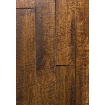4.5 Solid Hevea Hardwood Flooring in Distressed Tea Leaf
