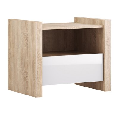 Venom 1 Drawer Nightstand Finish: White