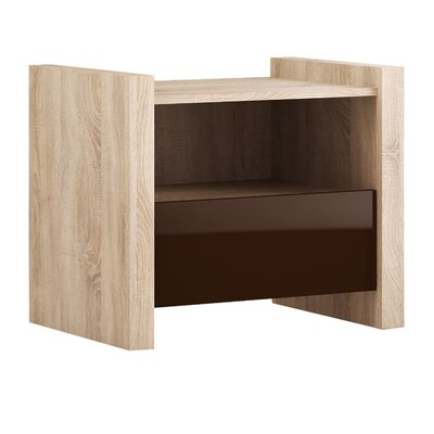 Venom 1 Drawer Nightstand Finish: Brown