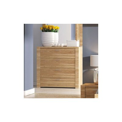 Raflo 4 Drawer Dresser Color: Light Brown
