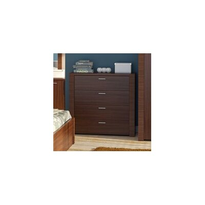 Raflo 4 Drawer Dresser Color: Dark Brown