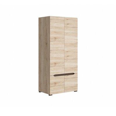 Elpasso Storage Closet Wardrobe Armoire Color: San Remo Oak