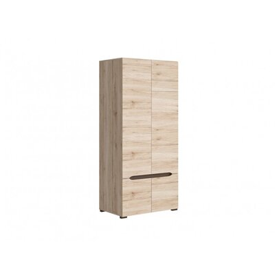 Elpasso Storage Closet Wardrobe Armoire Color: San Remo Oak