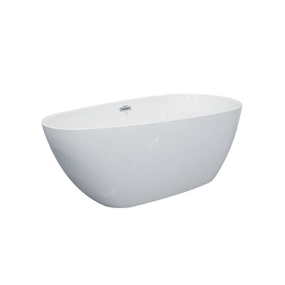 Gemini Freestanding Soaking Bathtub Size: 66.5 L x 31.5 D