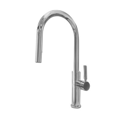Purity Single Handle Pull Down Kitchen Faucet Finish: Polished Stainless Steel