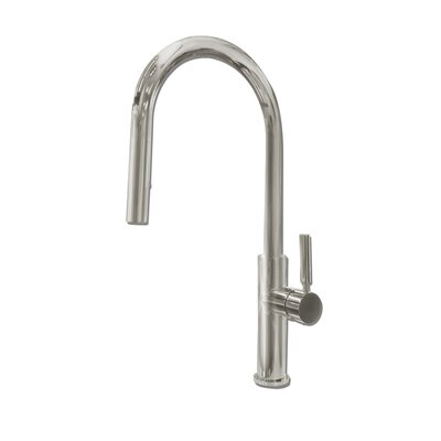 Purity Single Handle Pull Down Kitchen Faucet Finish: Brushed Stainless Steel
