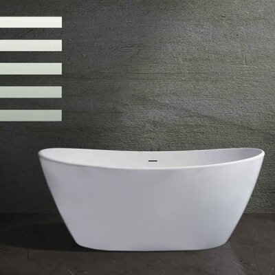 Corund 63.75 x 33 Freestanding Soaking Bathtub
