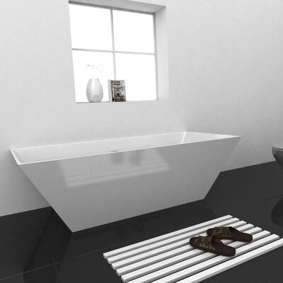 Verdant 70.25 x 33.25 Freestanding Soaking Bathtub