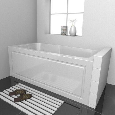 Sentinel Skirted Whirlpool Bathtub Drain Location: Left, Size: 60 L x 32 D