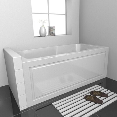 Sentinel Skirted Whirlpool Bathtub Drain Location: Right, Size: 72 L x 32 D