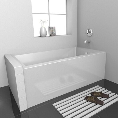 Vana Alcove Soaking Bathtub Drain Location: Right, Size: 60 L x 32 D