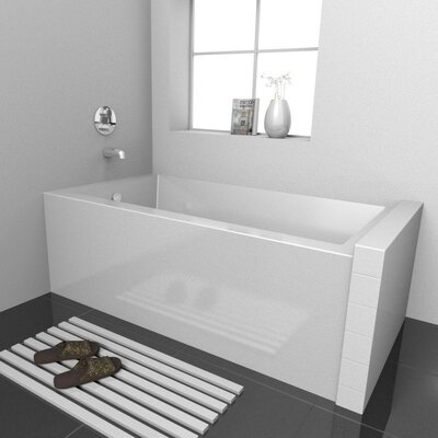 Vana Alcove Soaking Bathtub Drain Location: Left, Size: 54 L x 30 D