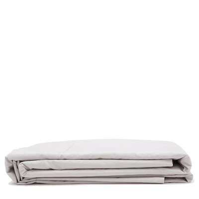 300 Thread Count Cotton Percale Flat Sheet Size: Queen, Color: Light Gray