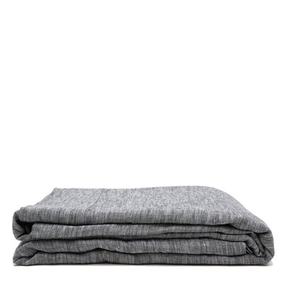 Linen Flat Sheet Size: King, Color: Heather Charcoal